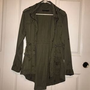 Army Green Hooded Utility Jacket Size 8